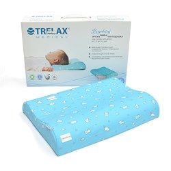 Детская ортопедическая подушка с 1,5 до 3 лет TRELAX Bambini арт. П22 рядом с упаковкой