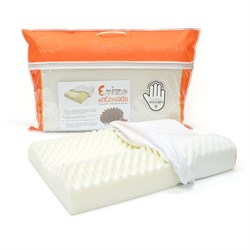 Ортопедическая подушка с памятью формы, анатомическими валиками и шиповидной поверхностью